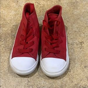Converse 9t red high tops
